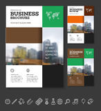 Modern Brochure design template. Annual report layout with photo place. illustration vector in A4 size Stock Image