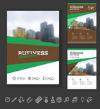 Modern Brochure design template. Annual report layout with photo place. illustration vector in A4 size Royalty Free Stock Photography