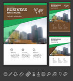 Modern Brochure design template. Annual report layout with photo place. illustration vector in A4 size Royalty Free Stock Images
