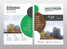 Modern Brochure design template. Annual report layout with photo place. illustration vector in A4 size Stock Images