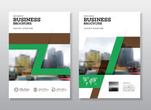 Modern Brochure design template. Annual report layout with photo place. illustration vector in A4 size Royalty Free Stock Image