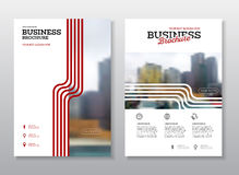Modern Brochure design template. Annual report layout with photo place. illustration vector in A4 size Royalty Free Stock Photos