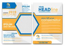 MODERN BROCHURE DESIGN TEMPLATE 2019 royalty free illustration
