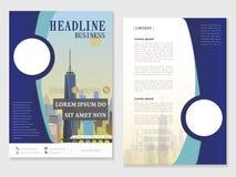 Modern brochure design Royalty Free Stock Images