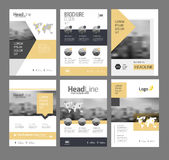 Modern Brochure design template. Vector set. 6 Annual report layout with photo place. illustration vector in A4 size Royalty Free Stock Photos