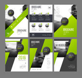 Modern Brochure design template. Vector set. 6 Annual report layout with photo place. illustration vector in A4 size Stock Image
