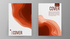 Modern Brochure Design Vector. Cover Book Minimal Portfolio Presentation. Paper Carve Abstract Cover. Ilustration Royalty Free Stock Images