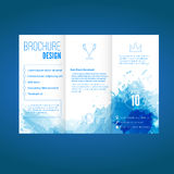 Modern Brochure Design With Watercolor Pattern Royalty Free Stock Photography