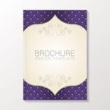 Modern brochure template / book / flyer design template. Vector illustration royalty free illustration