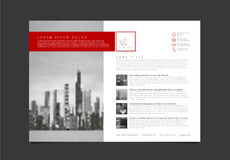 Modern brochure template flyer design vector template royalty free illustration