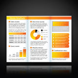 Modern brochure template with some infographic elements. Stock Images