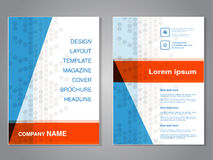 Modern brochure with triangle design, abstract flyer with grey dotted background. Layout template. Aspect Ratio for A4 size. Poste Stock Image
