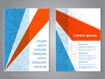 Modern brochure with triangle design, abstract flyer with grey dotted background. Layout template. Aspect Ratio for A4 size. Poste Royalty Free Stock Photos