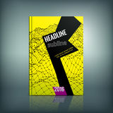 Modern Brochure 01 A. Vector abstract brochure cover template. Modern background for poster, print, flyer, book, booklet, brochure and leaflet design. Editable Royalty Free Stock Photo