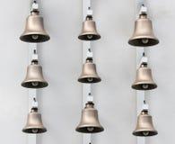 Modern bronze bells Stock Photo