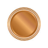 Modern bronze circle metal badges, labels and design elements. Vector illustration Royalty Free Stock Image