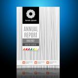 Modern broschyr, årsrapportdesignmall Fotografering för Bildbyråer