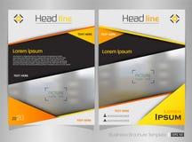 Modern broschyr av den gula lutningmallvektorn Arkivfoton