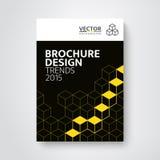 Modern broschyr-/bokdesignmall royaltyfri illustrationer