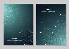 Modern broschyrräkningsdesign Arkivfoto