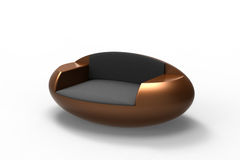Modern Brown Armchair Royalty Free Stock Photos