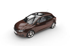Modern Brown Car - Front Top View Royalty Free Stock Photo