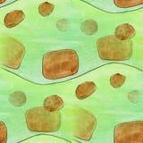 Modern brown, green seamless  watercolor artist wallpaper textur Stock Image