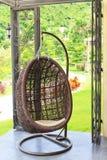Modern brun stol Fotografering för Bildbyråer