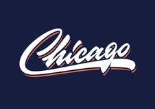Chicago brush script vector lettering stock images