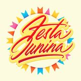 Festa Junina brush vector lettering Stock Photos