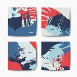 Modern brush vector postcard template Royalty Free Stock Photo