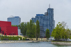 Modern Bucharest. Modern buildings in Bucharest city, Romania Royalty Free Stock Photos