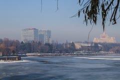 Modern Bucharest in winter Royalty Free Stock Image