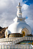 Modern Buddhist monument Shanti Stupa Stock Image