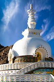 Modern Buddhist monument Shanti Stupa. Leh, Ladakh, India Royalty Free Stock Photography