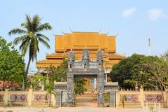 Modern Buddhist temple in Siem Reap, Cambodia Royalty Free Stock Images