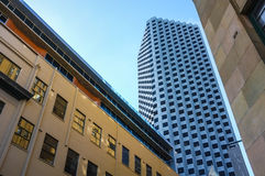 Modern Buiding. Modern Building with repeat window patterns at Perth CBD Royalty Free Stock Photo