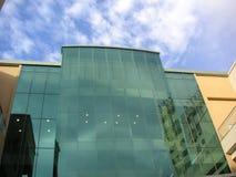 Modern building. Modern buidling, reflecting sky stock photos