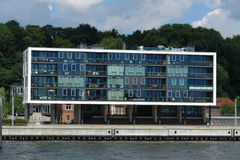 Modern building. In Hamburg harbor, Germany royalty free stock photography