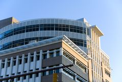 Modern Building. A modern building in a large American city Stock Photos
