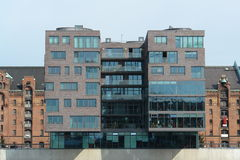 Modern building. In Hamburg harbor royalty free stock photos