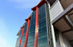 Modern building. With glass wall Royalty Free Stock Photography