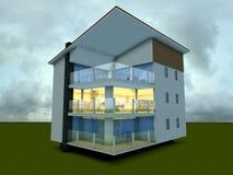 Modern building stock illustration