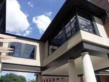 Modern Building. On a College Campus Royalty Free Stock Image