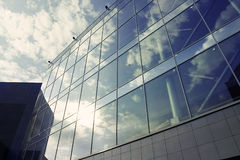 Modern building. With reflection sky Stock Photos