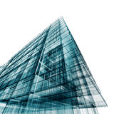 Modern building. 3d projecting process Royalty Free Stock Images