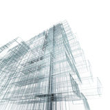 Modern building. 3d projecting process Royalty Free Stock Photography