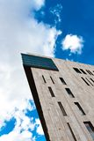 Modern building. Angle shot against blue sky royalty free stock images