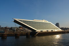 Modern building. In Hamburg harbor royalty free stock image