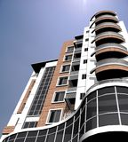 Modern building. Modern 3d residential building Royalty Free Stock Photo